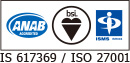 ANAB ACCREDITED bsi ISMS ISR004 IS 617369/ISO 27001